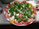 Салат з помідорів «Помідорна троянда»