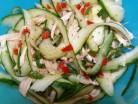 Салат з огірків і курки