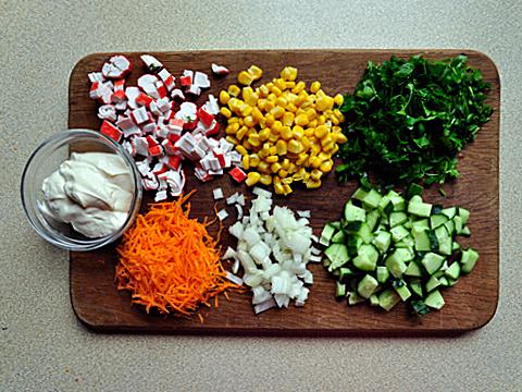 С крабовыми палочками салат пошаговое фото