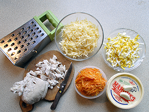 салат с корейской морковкой пошагово