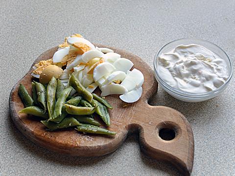 салатик со спаржевой фасолью продукты