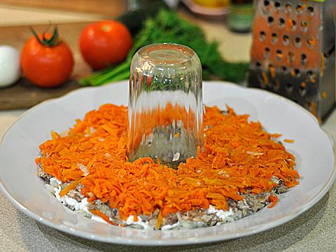 cалат Рождественский венок слой морковь