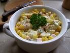 Салат «Олів'є» з кукурудзою і огірками